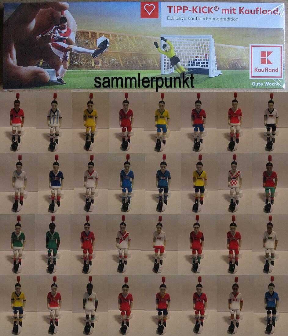 1 FUSSBALLSPIELER + BALL Ihrer Wahl aus der Tipp-Kick Kaufland-WM-Edition