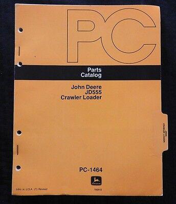 Genuine John Deere Jd555 555 Crawler Loader Tractor Parts Catalog Manual Good 1