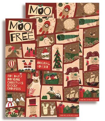 Moo Free Kids Milk Alternative Advent Calendar 70g (Pack of 2) - Dairy Free Choc