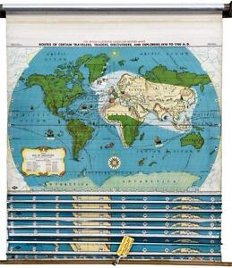 Classroom map ebay classroom pull down maps gumiabroncs Image collections