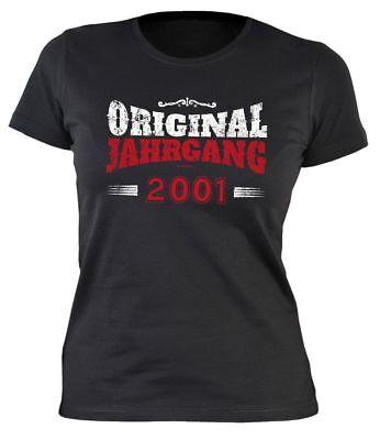 Original Jahrgang 2001 - Lustiges T-Shirt für 18. Geburtstag - Geschenkidee