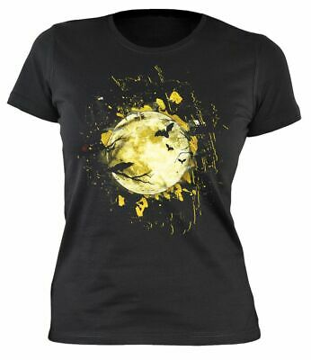 Halloween T-Shirt - Mond Vollmond - Damen Shirt - Halloween Vollmond