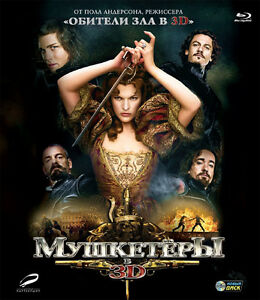 The Three Musketeers 3D  (Blu-ray Disc, 2012,  3D+2D) RegionFREE