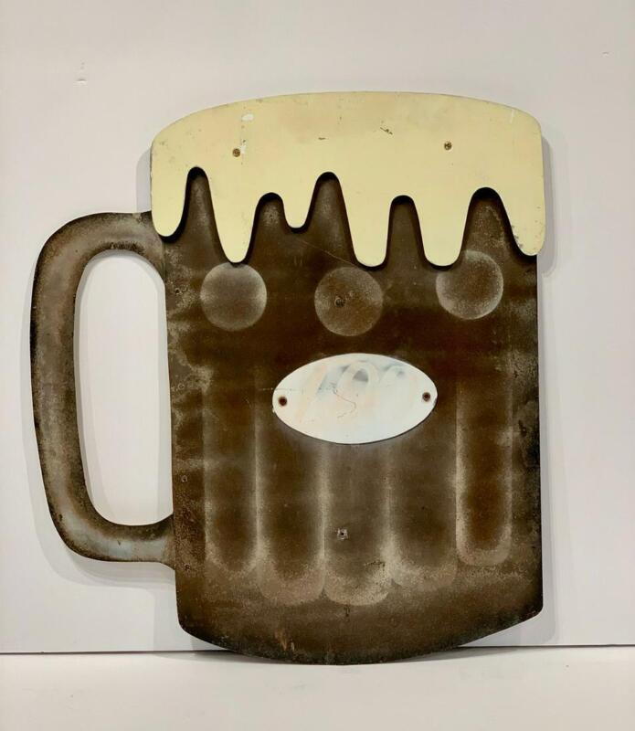 Figural Beer Mug Trade Sign, early 20thc