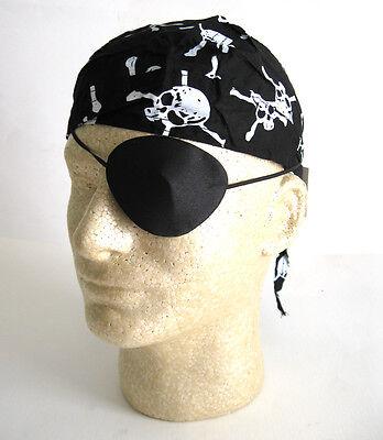 Deluxe Pirate Kit Silk Eye Patch & Skull Bandana Adult Halloween Costume