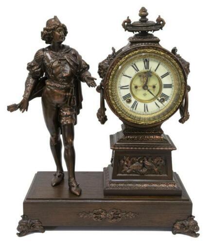 ANSONIA FIGURAL OPEN ESCAPEMENT MANTEL CLOCK, 19th century ( 1800s )