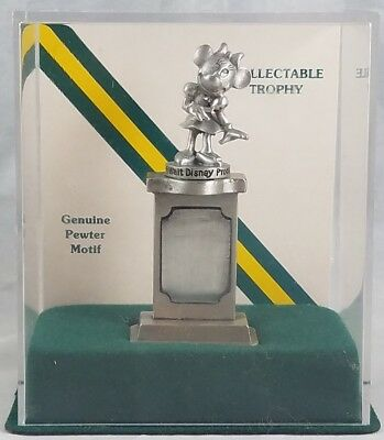 Disney Minnie Mouse Genuine Pewter Motif Collectable Trophy Fort Mint in Case