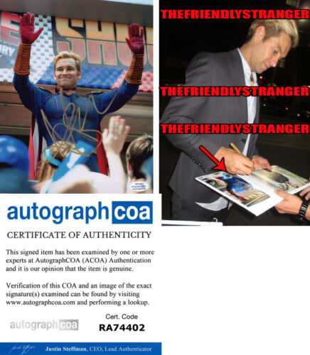 "ANTONY STARR signed Autographed ""THE BOYS"" 8X10 PHOTO k PROOF - Homelander ACOA"