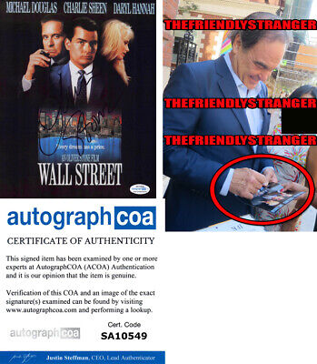 OLIVER STONE signed Autographed WALL STREET 8X10 Photo EXACT PROOF Director ACOA
