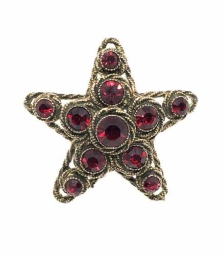 Signed HAR Red Star Brooch