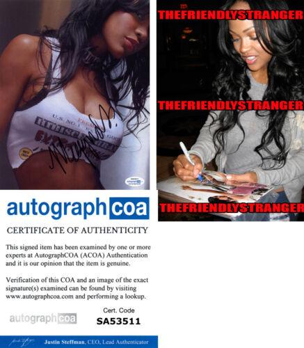 MEAGAN GOOD signed Autographed 8X10 PHOTO j PROOF Hot SEXY The Intruder ACOA COA