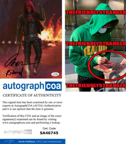 "CURRAN WALTERS signed ""TITANS"" 8X10 PHOTO e EXACT PROOF - Red Hood ACOA COA"