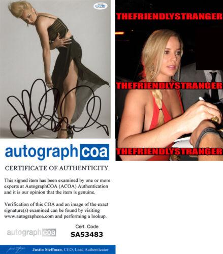 ABBIE CORNISH signed Autographed 8X10 PHOTO m PROOF - SEXY Hot ACOA COA