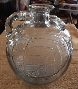 Vintage Apple Shape Clear Glass Vinegar Cider Jug White House Vinegar - BIG SALE