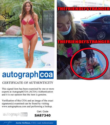 DENISE RICHARDS signed Autographed 8X10 PHOTO c EXACT PROOF Sexy Bikini ACOA COA