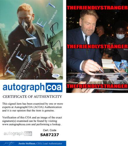 "KENNETH BRANAGH signed Autographed ""TENET"" 8X10 PHOTO e PROOF - Sator ACOA COA"