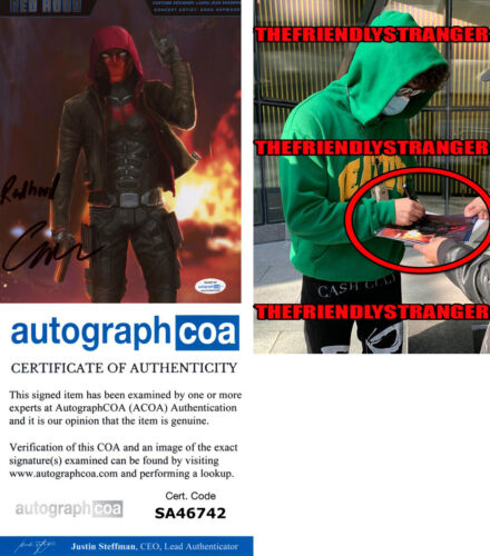 "CURRAN WALTERS signed ""TITANS"" 8X10 PHOTO b EXACT PROOF - Red Hood ACOA COA"