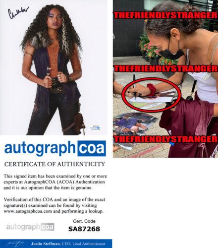 """CHANDLER KINNEY signed """"ZOMBIES"""" 8X10 PHOTO d EXACT PROOF Hot PLL Willa ACOA COA"""