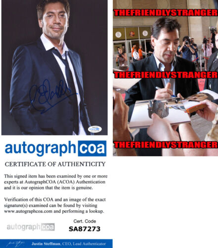 JAVIER BARDEM signed Autographed 8X10 Photo PROOF - NO COUNTRY 007 Skyfall ACOA