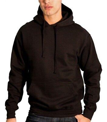 Plain Black hoodies Heavyweight Pullover Fleece Cotton Hoodie ()