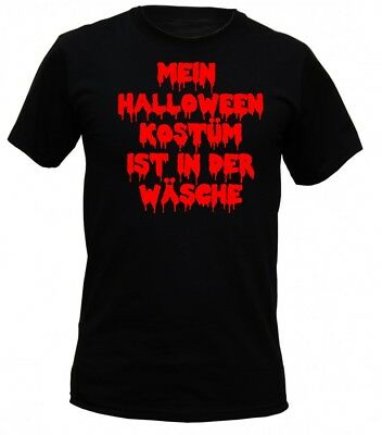 T-Shirt Horror - Halloween Kostüm in der Wäsche - Humor Zombie Party (Zombie T Shirt Kostüm)