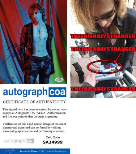 Rare YOSHIKI HAYASHI signed Autographed 8X10 Photo EXACT PROOF X Japan ACOA COA