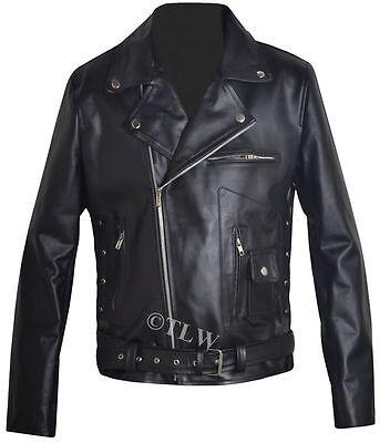 Arnold Schwarzenegger Terminator Biker Leather Jacket , All sizes , Fast Ship