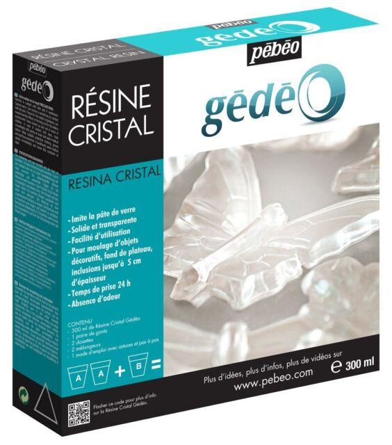 Pebeo Gedeo Crystal Transparent Resin 300ml Kit Set - Moulding, Jewellery Making