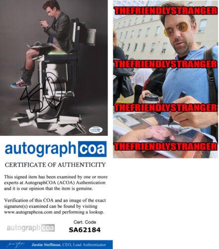 JASON SUDEIKIS signed Autographed 8X10 PHOTO b PROOF - FUNNY Ted Lasso ACOA COA