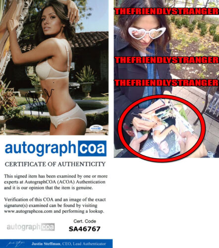 SARAH SHAHI signed Autographed 8X10 PHOTO h EXACT PROOF - HOT Sex/Life ACOA COA