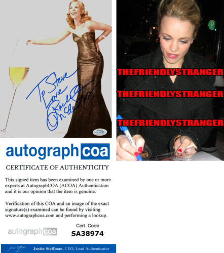 RACHEL McADAMS signed Autographed 8X10 Photo PROOF - SEXY The Notebook ACOA COA