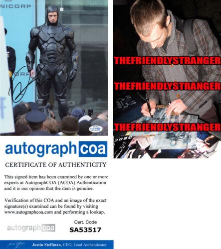 "JOEL KINNAMAN signed Autographed ""ROBOCOP"" 8X10 PHOTO g PROOF - ACOA COA"