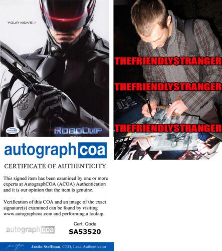 "JOEL KINNAMAN signed Autographed ""ROBOCOP"" 8X10 PHOTO h PROOF - ACOA COA"