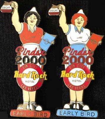 Hard Rock Hotel LAS VEGAS 2000 PINDEX PIN Early Bird PINS DORIS & MICKEY #4737-8