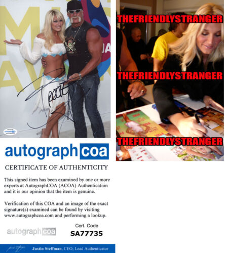 BROOKE HOGAN signed Autographed 8X10 PHOTO c WWE Hulk Hogan SEXY Hot ACOA COA
