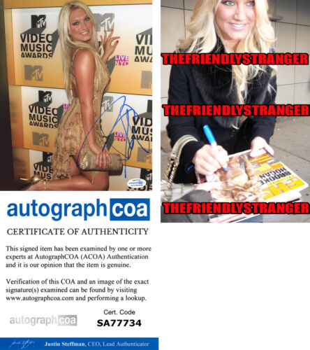 BROOKE HOGAN signed Autographed 8X10 PHOTO b WWE Hulk Hogan SEXY Hot ACOA COA