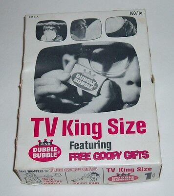 1960's Kingsize Fleer Dubble Bubble Gum Display Box
