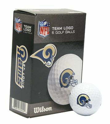 St. Louis Rams 6 Pack Wilson Golf Balls [NEW] NFL Golfing Pk Ball CDG