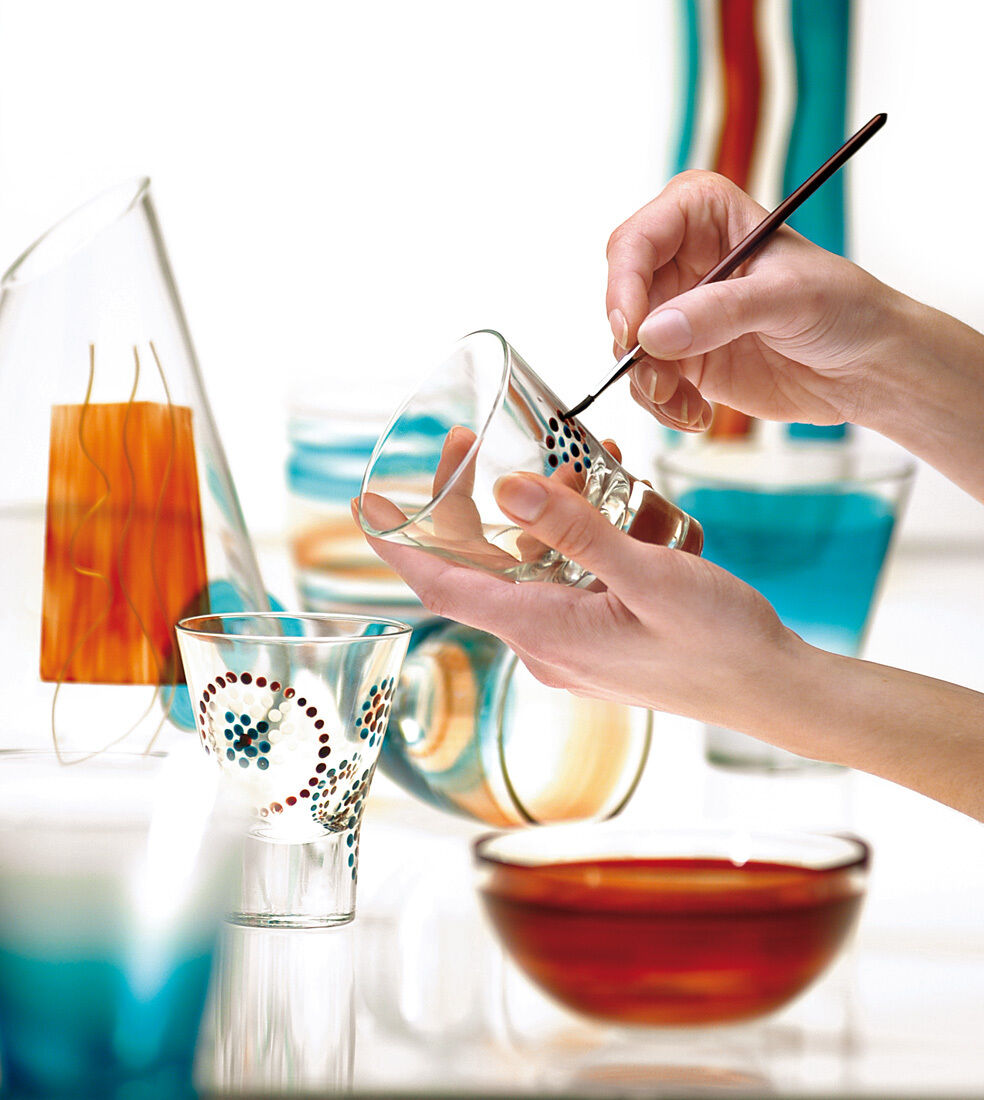 how to make glass paint permanent