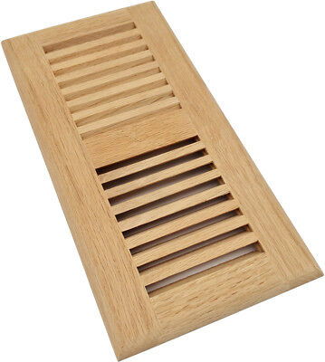 Homewell 4X10 Inch Red Oak Wood Floor Register Vent  Drop In Vent  Unfinished