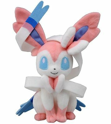 "Pokemon XY Sylveon Nymphia Plush Doll Fairy Eevee Stuffed Anime Toy 8"" US SELL"