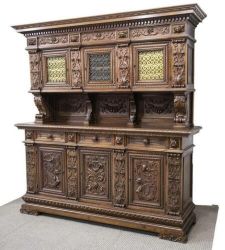 Sideboard, Italian, Renaissance Revival, Walnut, Early 1900s, Stunning Piece!