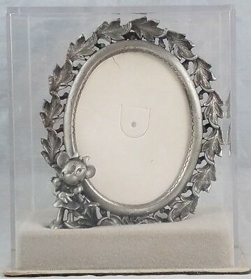 Disney Minnie Mouse Pewter Photo Frame Vintage Miniature Collectable Figure Mint