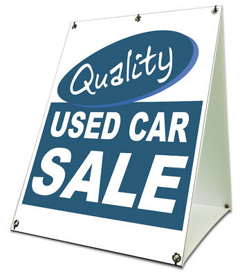 Quality Used Car Lot Save Sidewalk A Frame 18x24 Outdoor Vinyl Retail Sign