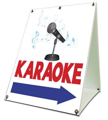 Karaoke Sidewalk A Frame 18x24 Outdoor Store Retail Sign