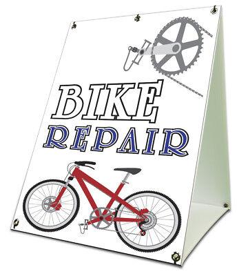 Bike Repair Sidewalk A Frame 18x24 Outdoor Bicycle Shop Cycle Retail Sign