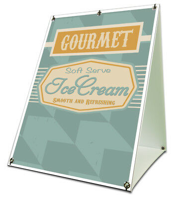 Soft Serv Ice Cream Sidewalk A Frame 18x24 Concession Stand Outdoor