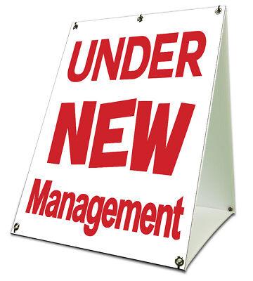 Under New Management Sidewalk A Frame 18x24 Outdoor Store Retail Sign
