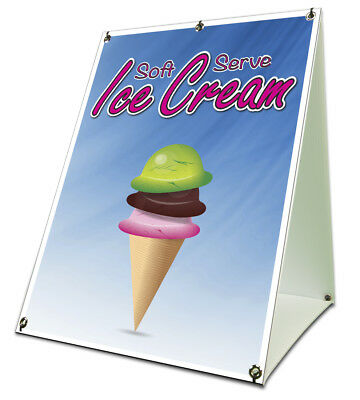 Soft Serve Ice Cream Sidewalk A Frame 18x24 Concession Stand Outdoor