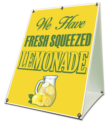 Lemonade Yellow Sidewalk A Frame 18x24 Outdoor Consession Retail Sign